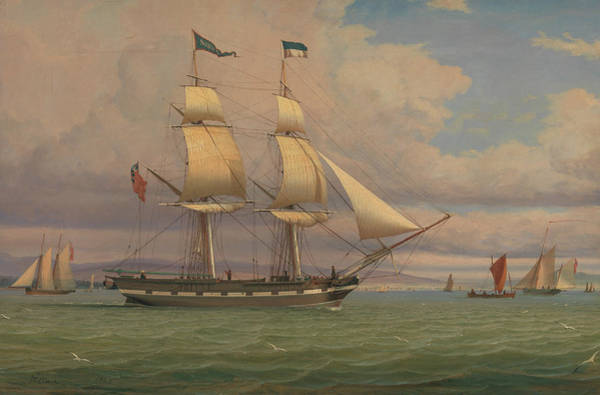 Painting - The English Brig Norval Before The Wind by William Clark