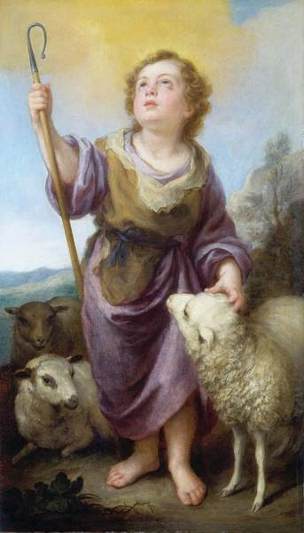 Wall Art - Painting - The Good Shepherd, 1682 by Bartolome Esteban Murillo