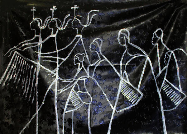 Painting - The Holy Trinity And Bikira Maria Lord Of The Dance As Sung By Many A Choir by Gloria Ssali