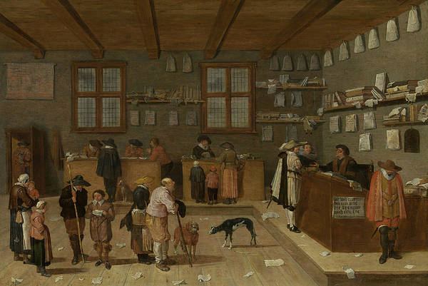 Painting - The Lawyer's Office by Pieter de Bloot