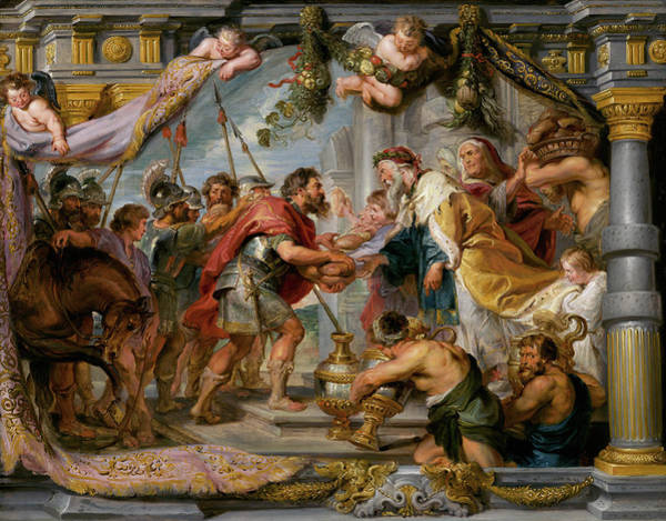Wall Art - Painting - The Meeting Of Abraham And Melchizedek by Peter Paul Rubens