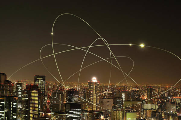 Photograph - The Network Of City Building by Yagi Studio