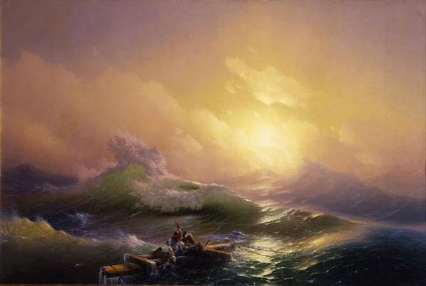 Nature Knows Best Wall Art - Painting - The Ninth Wave by Hovhannes Aivazovsky