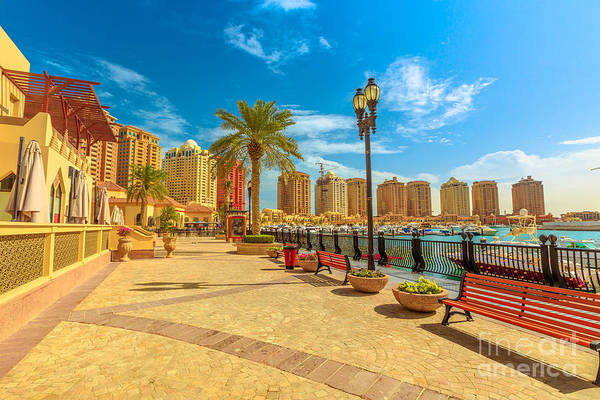 Photograph - The Pearl Porto Arabia by Benny Marty