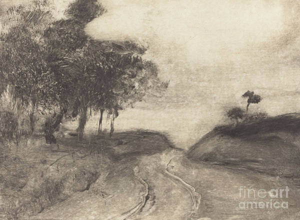 Wall Art - Drawing - The Road  La Route by Edgar Degas