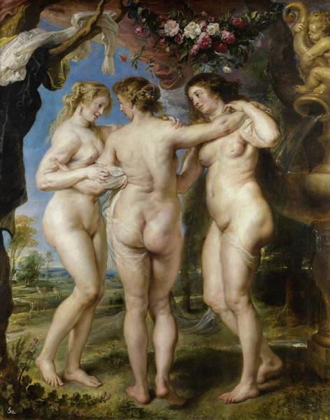Wall Art - Painting - The Three Graces by Peter Paul Rubens