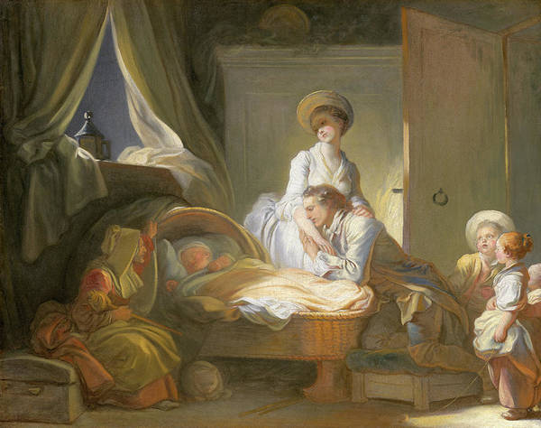 Wall Art - Painting - The Visit To The Nursery by Jean-Honore Fragonard