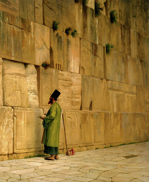 Painting - The Wailing Wall  by Jean Leon Gerome