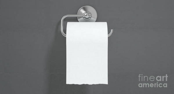 Wall Art - Digital Art - Toilet Roll On Chrome Hanger by Allan Swart