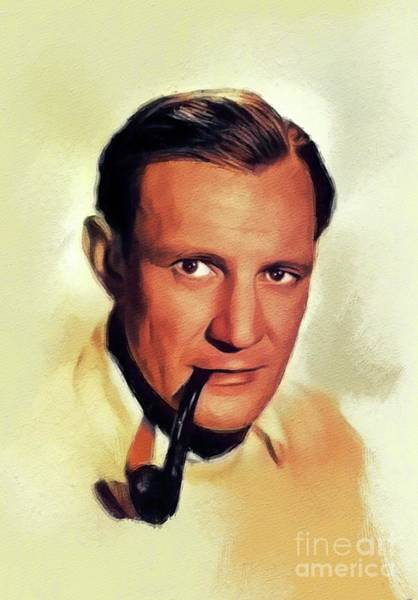 Howard Painting - Trevor Howard, Vintage Actor by John Springfield