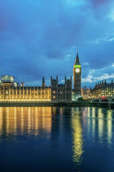 Wall Art - Photograph - Uk, London Big Ben And Parliament by Rob Tilley