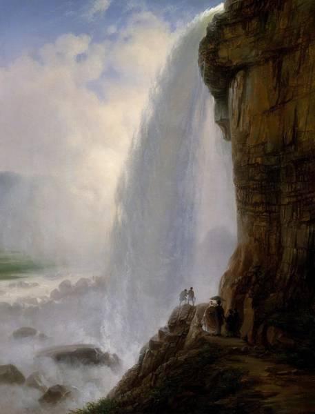 Wall Art - Painting - Underneath Niagara Falls by Ferdinand Richardt
