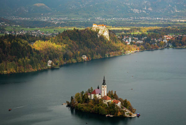 Wall Art - Photograph - View Of Lake Bled From Mala Osojnica by Ian Middleton