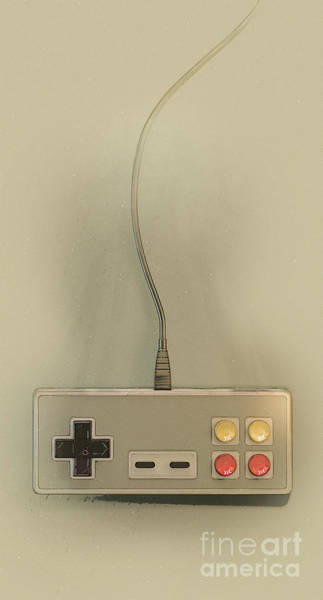 Controller Digital Art - Vintage Gaming Controller by Allan Swart