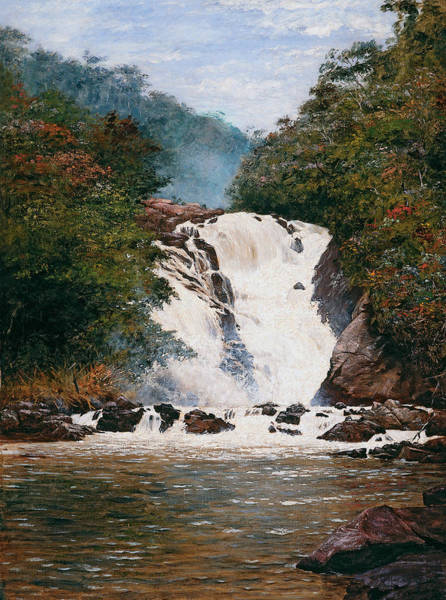Painting - Votorantim Waterfall by Almeida Junior