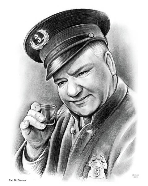 Wall Art - Drawing - Wc Fields by Greg Joens