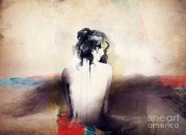 Wall Art - Digital Art - Woman Portrait  .abstract  Watercolor by Anna Ismagilova