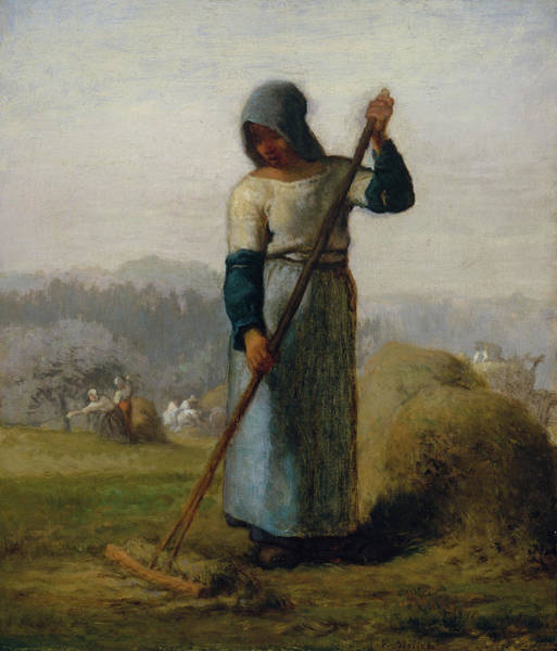 Wall Art - Painting - Woman With A Rake by Jean-Francois Millet