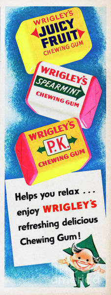 Wall Art - Photograph - Wrigleys Chewing Gum by Picture Post