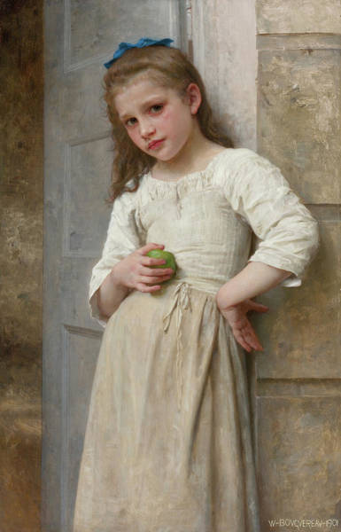 Wall Art - Painting - Yvonne On The Doorstep, 19th Century by William-Adolphe Bouguereau