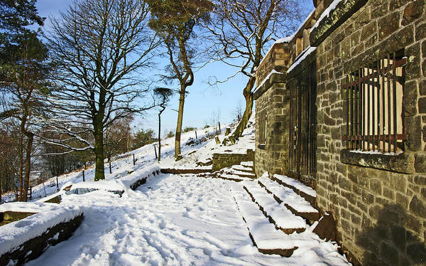 Photograph - 30/01/19  Rivington. Summerhouse In The Snow. by Lachlan Main