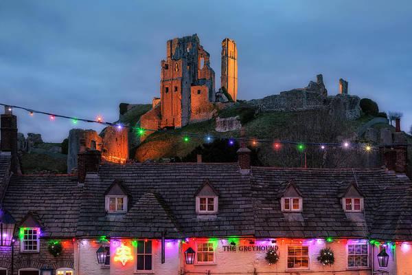 Weihnachten Photograph - Corfe Castle - England by Joana Kruse