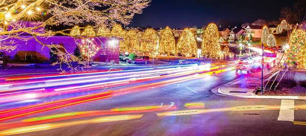 Photograph - Outdoor Christmas Decorations At Christmas Town Usa by Alex Grichenko