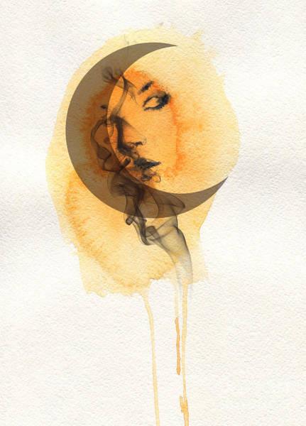Wall Art - Digital Art - Woman Face. Hand Painted Fashion by Anna Ismagilova