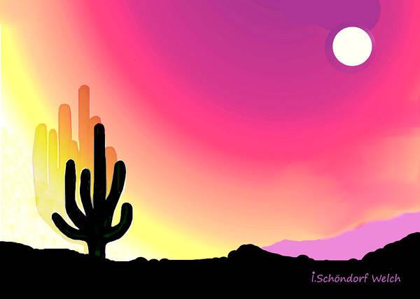 Wall Art - Digital Art - 3028 Arizona Early Morning Light by Irmgard Schoendorf Welch