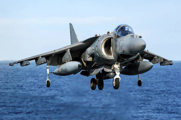 Photograph - An Av-8b+ Harrier II Jet Aboard by Daniele Faccioli