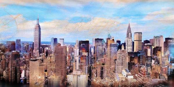 Ico Wall Art - Mixed Media - New York by Javier Lopez