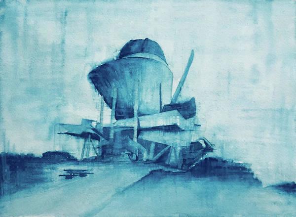 Architecture Painting - 31.594401, 130.826593 by Kiketa Iwashita