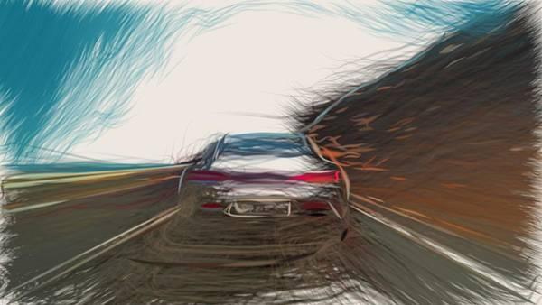 Wall Art - Digital Art - Mercedes Benz Amg Gt Draw by CarsToon Concept