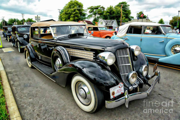 Super Car Mixed Media - 35 Auburn Phaeton  by Larry Dove