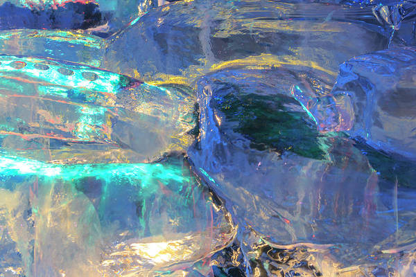 Wall Art - Photograph - Patterns And Textures Of Ice Blocks by Stuart Westmorland