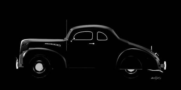 Digital Art - 39 Ford Coupe by Peter J Sucy