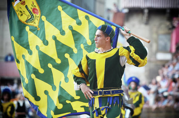 Contest Photograph - Palio Di Siena Horse Race by Ronald C. Modra/sports Imagery