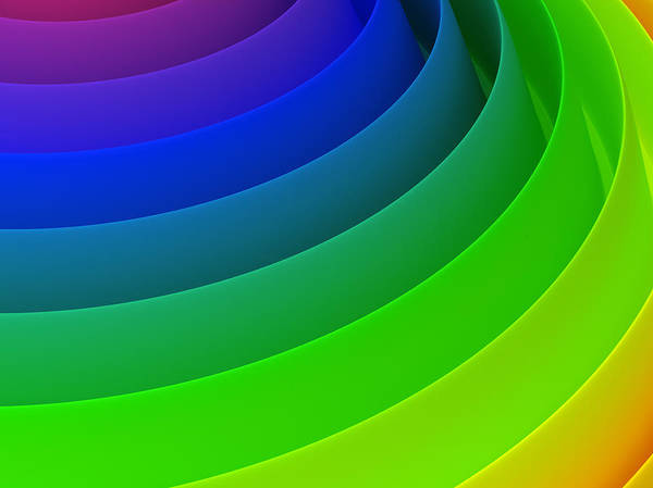 Placard Photograph - 3d Abstract Colourful Hi Tech Background by Me4o