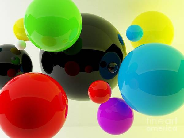 Digital Photograph - 3d Balls by Oldm