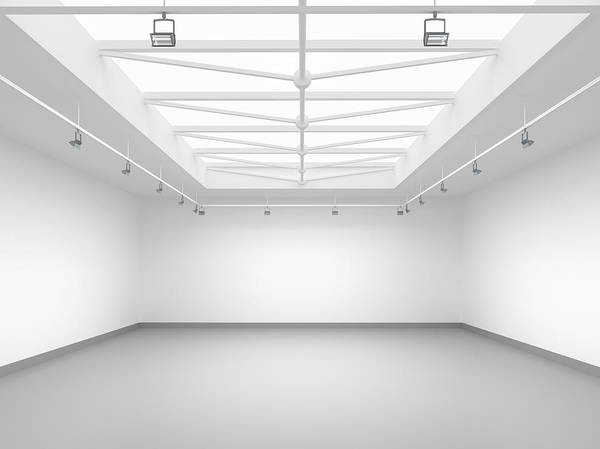 Home Interior Photograph - 3d Empty Gallery by Me4o