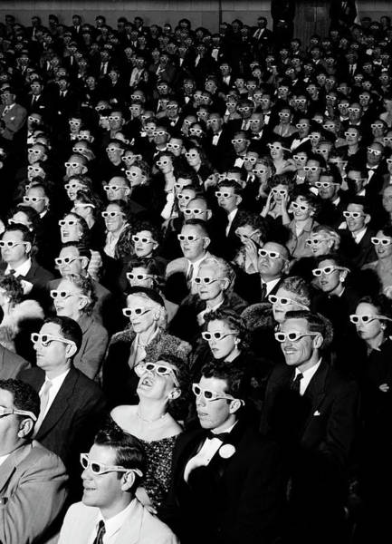 Laughing Photograph - 3d Film Audience by J. R. Eyerman
