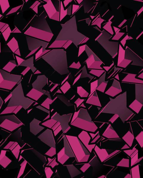 Wall Art - Digital Art - 3d Futuristic Mosaic Background #2 by Amir Faysal