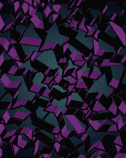 Wall Art - Digital Art - 3d Futuristic Mosaic Background #3 by Amir Faysal