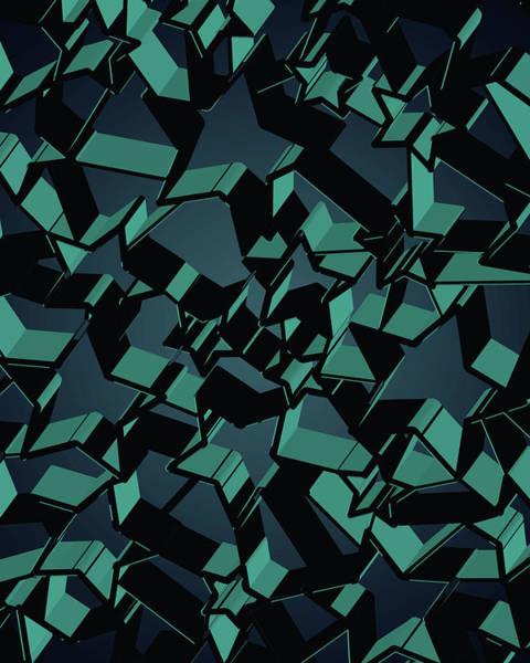 Wall Art - Digital Art - 3d Futuristic Mosaic Background #5 by Amir Faysal