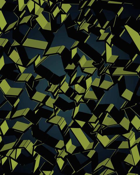 Wall Art - Digital Art - 3d Futuristic Mosaic Background #7 by Amir Faysal
