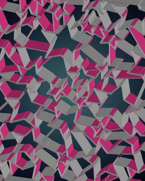 Wall Art - Digital Art - 3d Futuristic Mosaic Background #8 by Amir Faysal