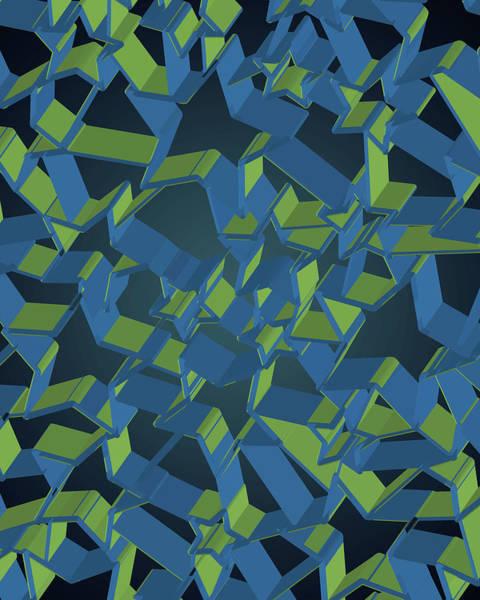 Wall Art - Digital Art - 3d Futuristic Mosaic Background #9 by Amir Faysal