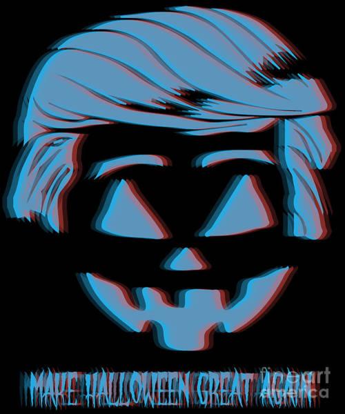 Digital Art - 3d Trumpkin Make Halloween Great Again by Flippin Sweet Gear