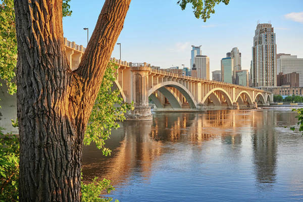Photograph - 3rd Avenue Bridge In Minneapolis by Jim Hughes
