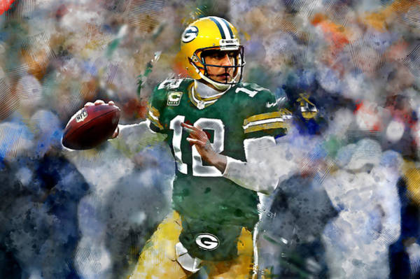 Aaron Rodgers Mixed Media - Aaron Rodgers by Marvin Blaine